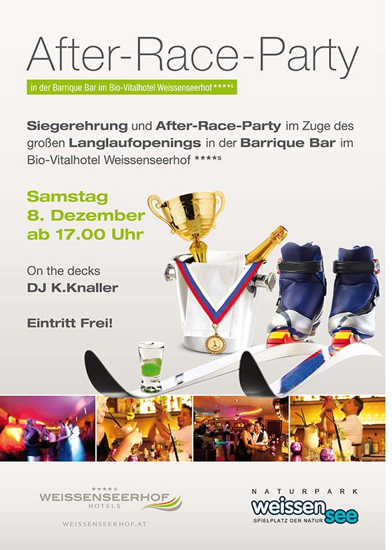 Weissenseerhof After-Race-Party Plakat 201213