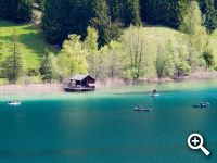 Lake Weissensee - a sheer paradise for hobby fishermen.