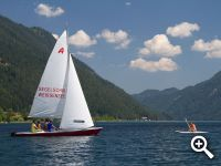 sailing and surfing school lake Weissensee
